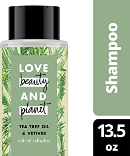 Love Beauty and Planet Shampoo for Unisex, Tea Tree Oil and Vetiver, 13.5 Ounce