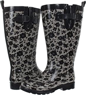 Ladies Lacey Blooms Printed Tall Rubber Rain Boot