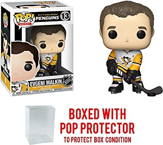 Funko POP! Sports NHL Pittsburgh Penguins Evgeni Malkin #13 (Away Jersey) Action Figure (Bundled with Pop Box Protector to Protect Display Box)