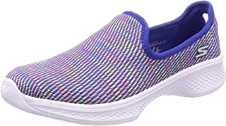 Skechers Go Walk 4-Select, Zapatillas sin Cordones Niñas