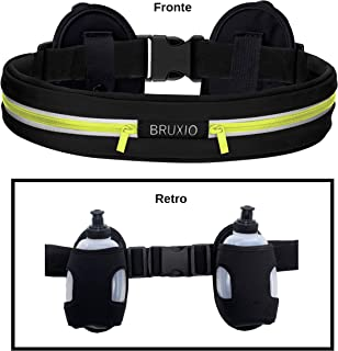 Irypulse Sports Bumbag with Adjustable Elastic Strap Unisex Waist Belt Bag Bum Bags Lightweight Comfortable Breathable Large Capacity 3 Pockets Fit for Running Cycling Fitness Hiking Workout