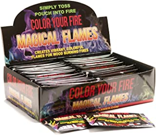 Magical Flames Vibrant & Colorful Flames for Wood Burning Fires (50 Pack)