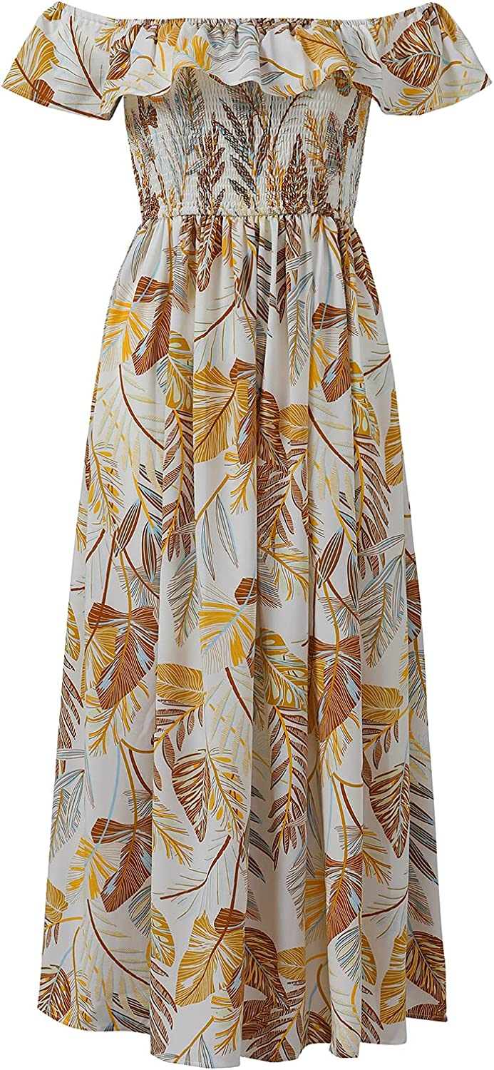 specialty shop Women's Printed one-Neck Off-The-Shoulder Award-winning store Dress