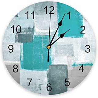 Infinidesign Abstract PVC Wall Clock, Silent Non-Ticking Battery Operated Clocks, Round Clock for Home Office School Kitch...