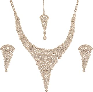 """NEW! Touchstone """"Fine Faux Jewelry Collection"""" Indian Bollywood Desire Superbly Creative Style Sparkling White Rhinestones..."""