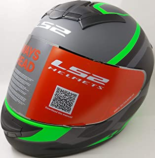 LS2 Helmets - FF352 Rookie - Mein - Matt Black Green - Single Mercury Visor Full Face Helmet - (X-Large - 590 MM)