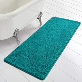 Homore Bathroom Mats Soft Chenille Bath Rugs 24x60 inch, Super Absorbent Shaggy Carpets for Bath Room, Washable and Non Sl...