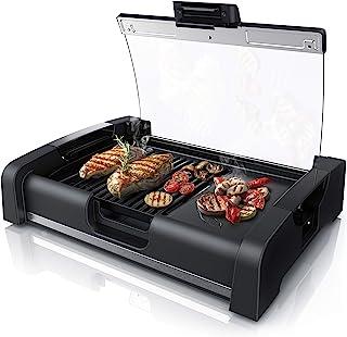 Arendo - électrique gril de table - Grill Gourmet Multifonction - amovible - 1650W - presse à paninis sandwichs ecc - couv...
