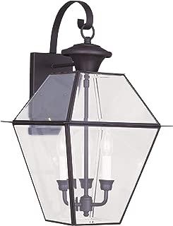 Livex Lighting 2381-07 Westover 3-Light Outdoor Wall Lantern, Bronze