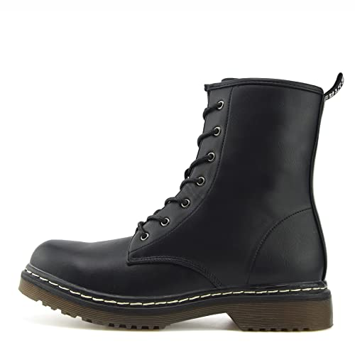 Ladies Ankle Retro Combat Boot Women s lace Funky Vintage Gothic Ankle Boots 7abfd0274