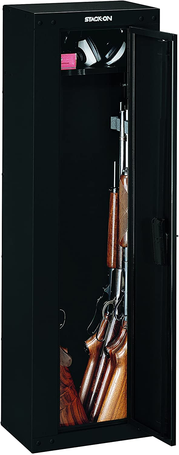 Amazon Com Stack On Gcb 8rta Steel 8 Gun Ready To Assemble Security Cabinet Black Home Improvement