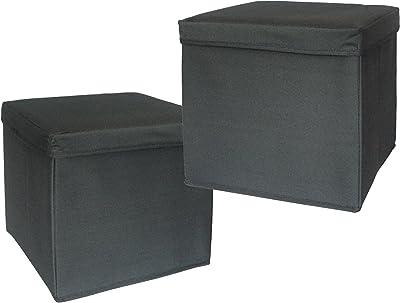 Preform 4201621102G 2 Stück Canvas Hocker mit Aufbewahrung