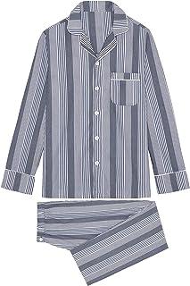 Hom Men's Mazargues Long Woven Sleepwear Pajama Set