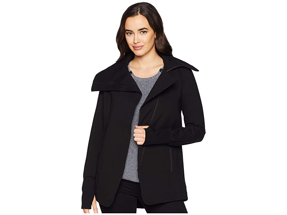 Liverpool Asymmetrical Jacket in Super Stretch Ponte Knit (Black) Women