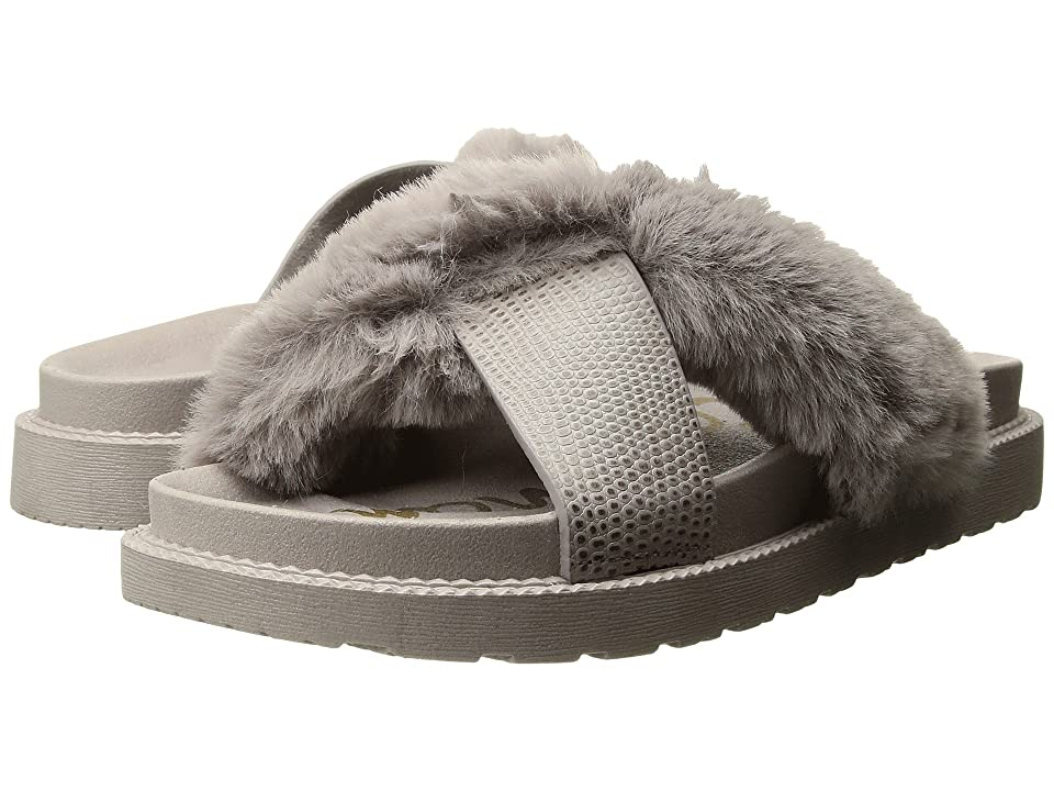 Sam Edelman Bianca (Grey Faux Fur/Embossed Lizard Leather) Women