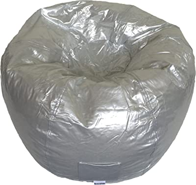 Fun Teardrop Adult Vinyl Beanbag Chair Boscoman BOX L Twilight Blue