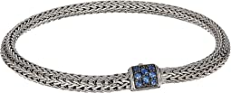 Classic Chain 5mm Bracelet with Blue Sapphire