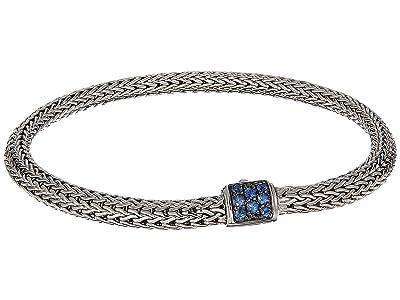 John Hardy Classic Chain 5mm Bracelet with Blue Sapphire (Silver) Bracelet