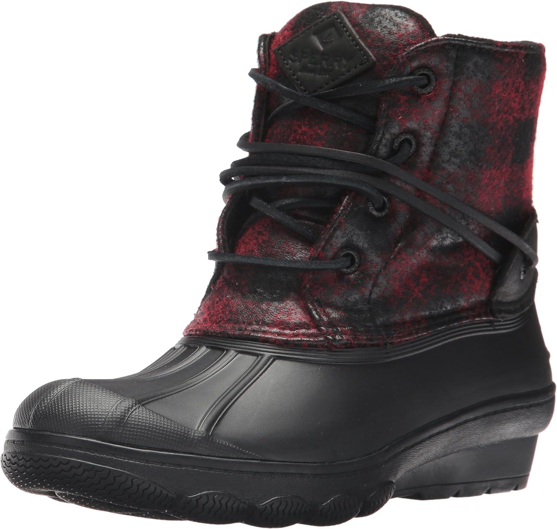 Sperry Top-Sider Woherren Saltwater Wedge Tide Wool Rain Stiefel, schwarz rot Buffalo Plaid, 12 Medium US