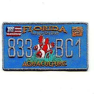 hegibaer Florida Autokennzeichen FL USA US Bundesstaaten Patch Aufnäher Aufbügler 0610