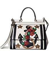Dolce & Gabbana - Small Miss Sicily Bag with Embroidered Anchor and Studs