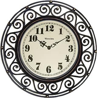 Westclox, Bronze 32021 Round Filigree Rubbed Clock, 12-Inch