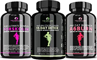 Weight Loss Bundle: 15 Day Colon Cleanse Detox, Ultimate Forskolin Complex, A6Burn PM Weight Loss & Sleep Aid. 24/7 Detox,...
