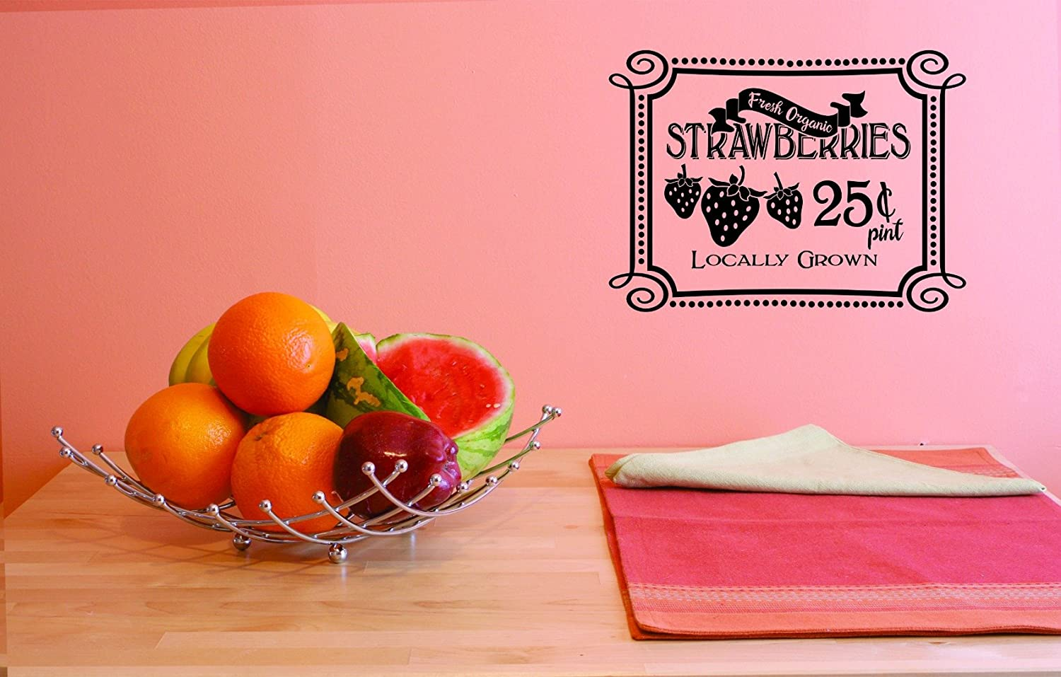 Design with Vinyl JER 1768 1 Hot Organic Fresh Decals New Strawb Super Special Max 70% OFF SALE held