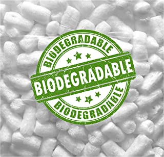 DMSE 1/4 Cu Ft Biodegradable White No Stick Recyclable Packing Peanuts Popcorn Loose Fill Perfect Amount (White Biodegrada...