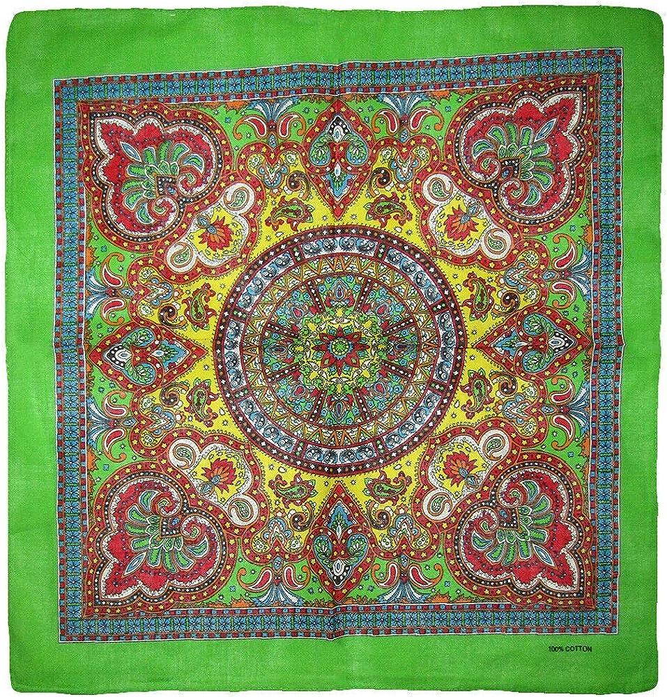 Wholesale Lot of 3 Paisley Manufacturer OFFicial shop Mosaic Multi Green Color 100% Cotton quality assurance