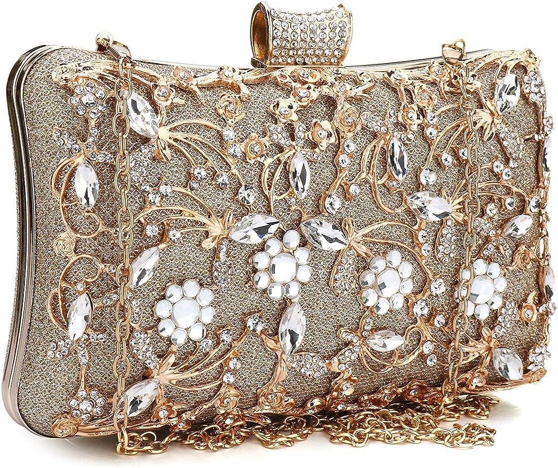 Puedo safety Womens Crystal Evening Max 69% OFF Clutch Pro Bridal Bag Purse Wedding