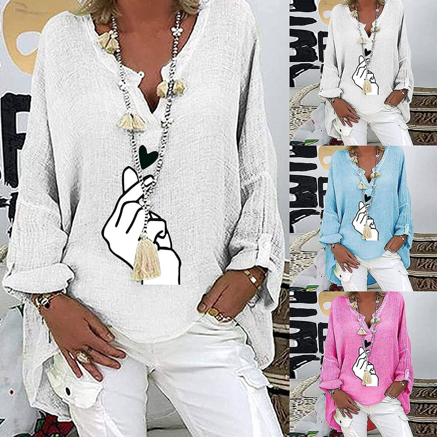 Plus Size Tops for Women Long Sleeve Tunic Tops Loose Fit Pullover Sweatshirts Fashion Print Fall Blouses