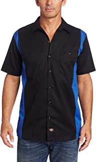 Men's Short-Sleeve Two-Tone Work Shirt
