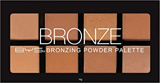 BYS Bronzing Powder Palette - 8 Color Shades - Bronze, Contour, Sculpt, Highlight Makeup Set, Matte & Shimmer Finish