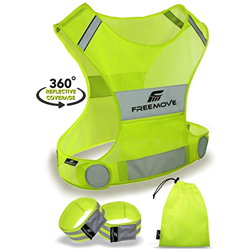 Ultra lightweight high visibility yellow reflective motorcycle bike vest jogging unisex