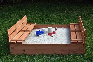 Naomi Home Kids Cedar Sandbox with 2 Benches