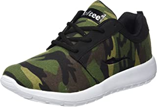 per bambini scarpe sportive da bambino traspiranti Maogo con motivo mimetico per il tempo libero Verde verde 37 EU