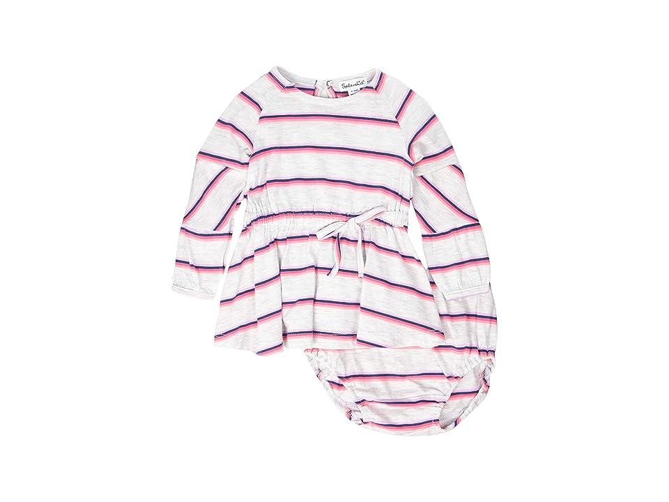 Splendid Littles Heather Stripe Dress (Infant) (Ice Gray Heather) Girl