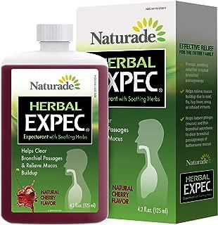 Naturade Herbal Expectorant with Guafenesin, Cherry Flavor, 4.2 Fluid Ounce
