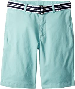 Polo Ralph Lauren Kids Slim Fit Belted Stretch Shorts (Little Kids)