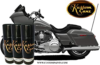 Kustom Canz Harley Davidson Charcoal - 12oz Aerosol can Three Stage Color Price Includes Ground Coat, Mid Coat and 2K Clear Coat - Paint Code 071