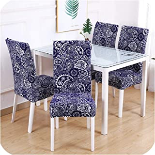 Wenzi-day 1/2/4/6Pcs Stretch Chair Cover Big Elastic Kitchen Chair Cover Dining Seat Cover Removable Slipcovers Restaurant Banquet Hotel,Color 4,1 Piece