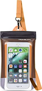 Travelon Floating Waterproof Smart Phone/Digital Camera Pouch, Orange