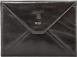 Maxwell Scott® Personalised Luxury Black Leather Ipad Air Case for Men (Ettore)