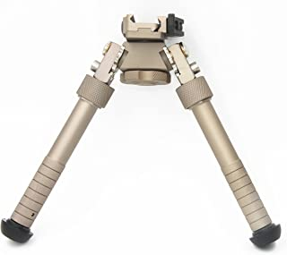 JINSE Bipod Picatinny Rail Quick Release Bipod Folding Swivel Adjustable 6-9 Inches(Bronze )