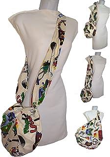 Borsa da donna fatta a mano HIPPIE Leggera e comoda per l'uso quotidiano realizzata in tessuto resistente Borsa a tracolla...