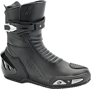 Joe Rocket Super Street RX14 Men`s Leather Motorcycle Riding Boots (Black, Size 11)