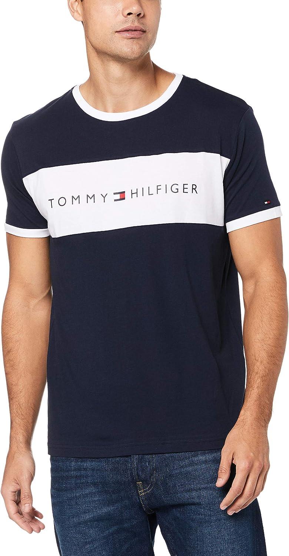 Tommy Hilfiger Flag Logo Crew Neck T-Shirt Camiseta para Hombre