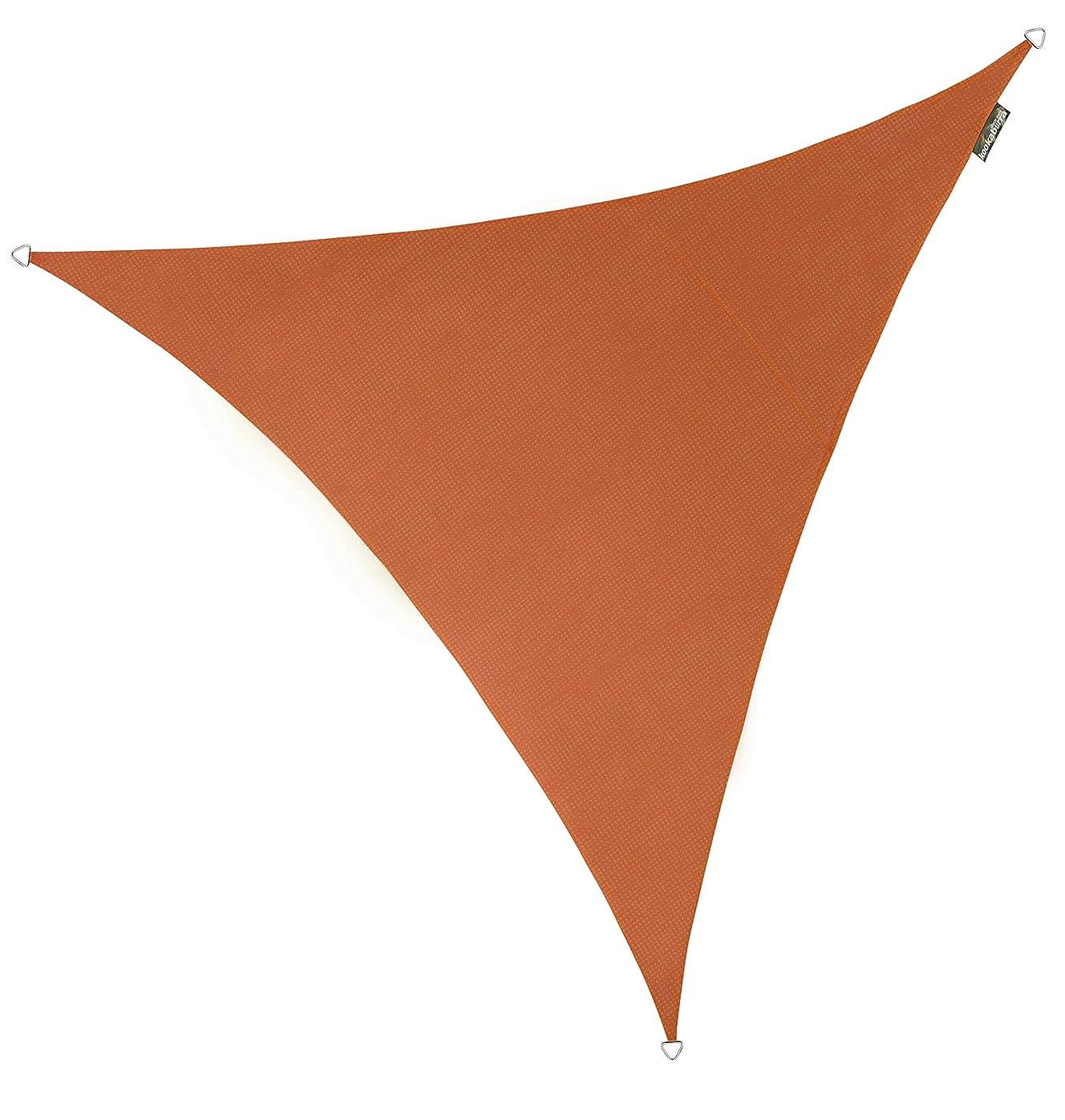 一生健康的かけがえのないクッカバラ 赤褐色通気性日除けシェードセイル(ニット織) - 紫外線93.3%カット - OL0120SST (3m正三角形)