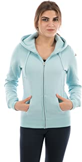 FORBIDEFENSE Women Fleece Hoodies Full Sleeve-Front Zip Premium Hood 2 Split Pocket
